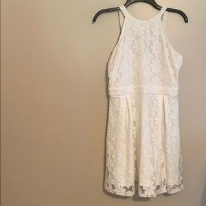 Bleuh ciel girls L white dress